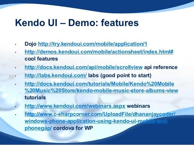 kendo ui mobile tutorial