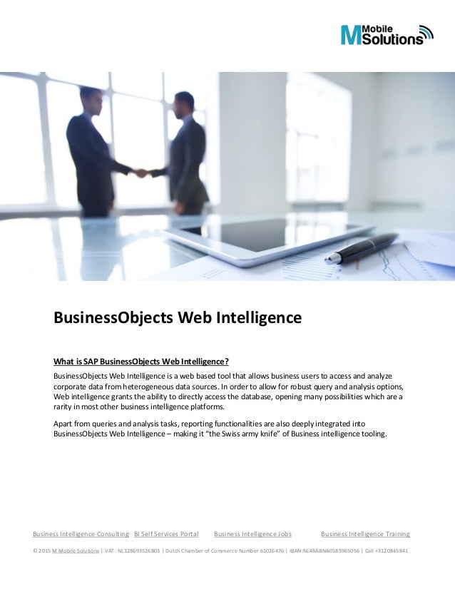 sap web intelligence tutorial