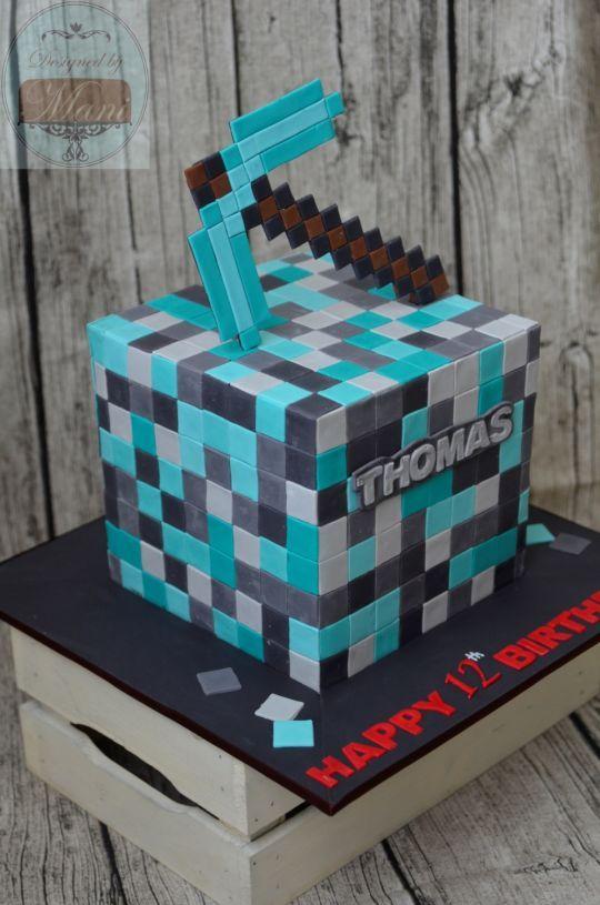 minecraft sword cake tutorial