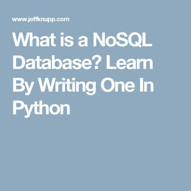 nosql tutorial for beginners
