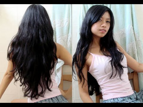 permanent hair straightening tutorial