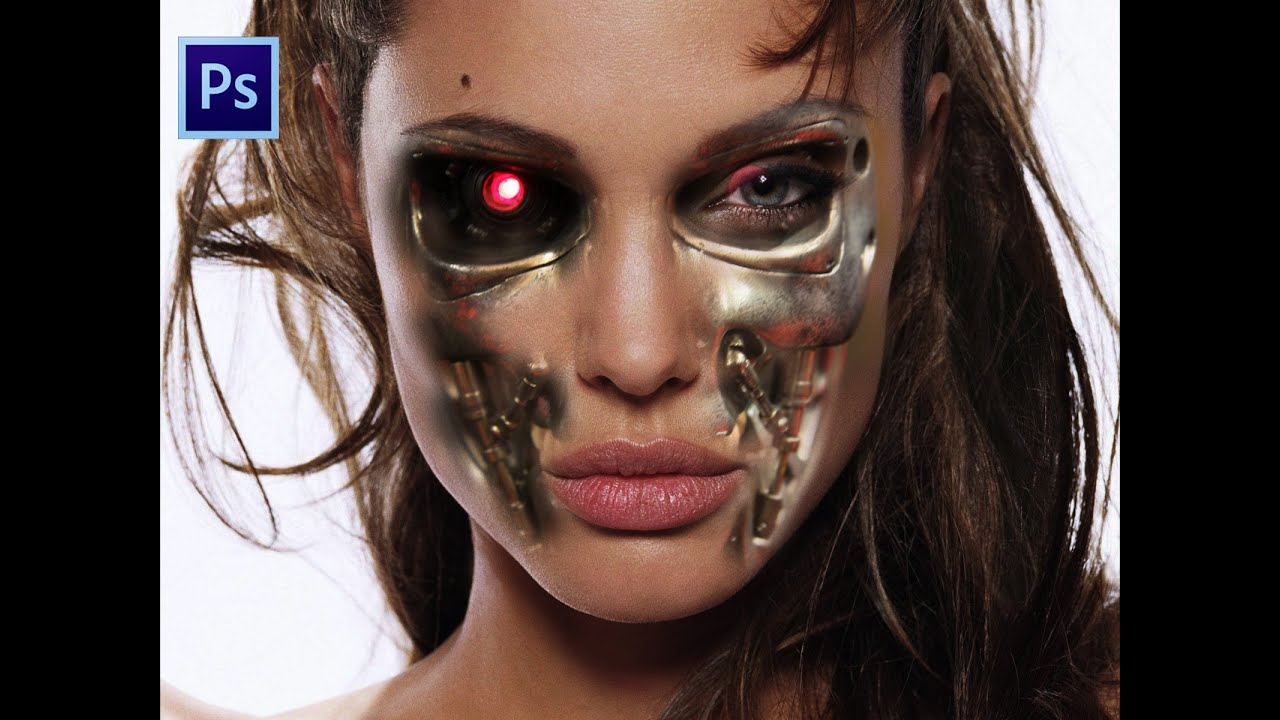 photoshop terminator face tutorial