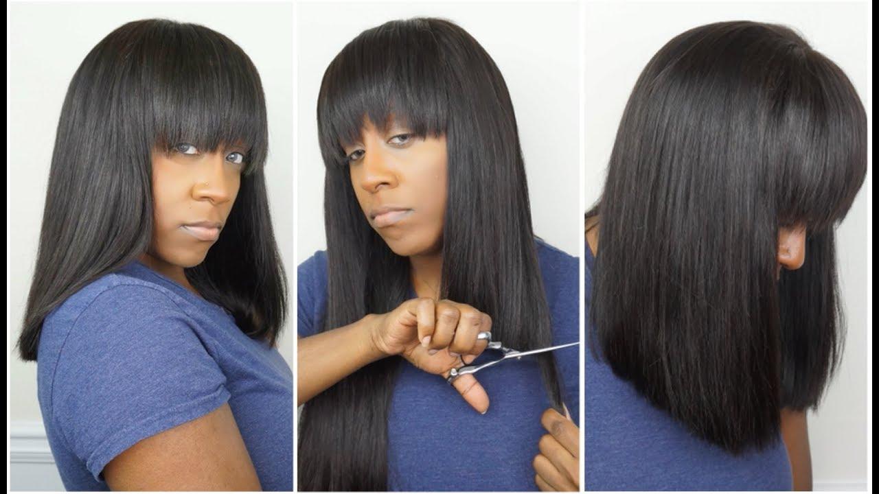 hair cutting bangs tutorial