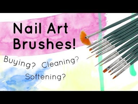 nail art with brushes tutorial