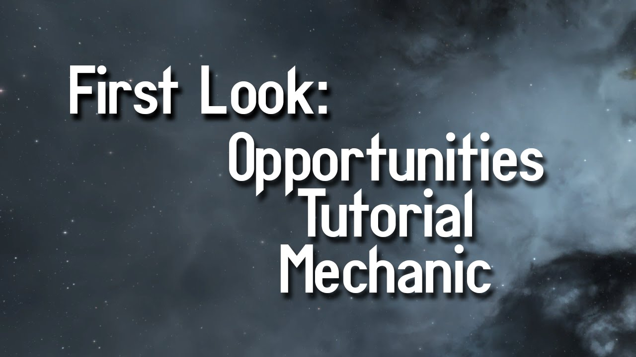 eve online opportunities tutorial