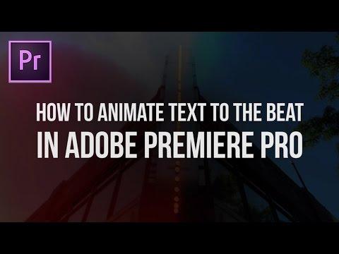 adobe premiere music video tutorial