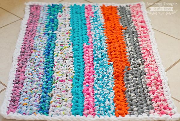 round rag rug tutorial