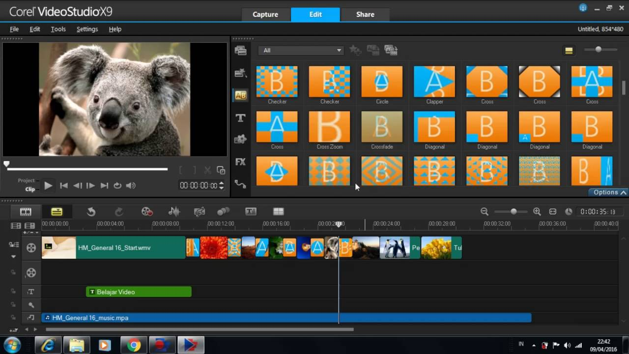 corel videostudio x9 tutorial