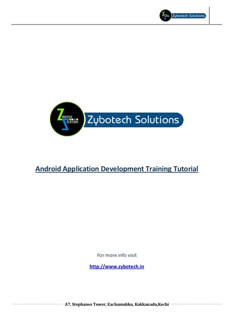 android app development tutorial pdf