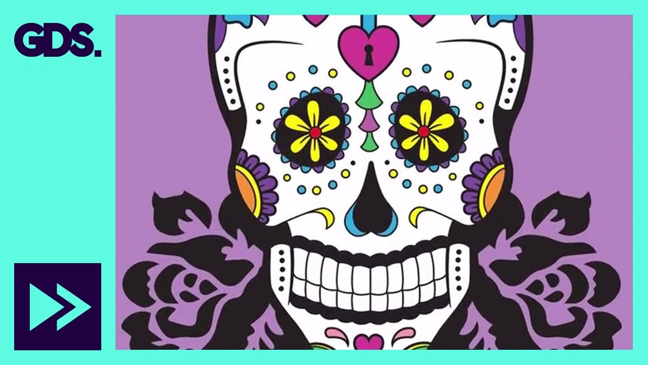 day of the dead drawing tutorial