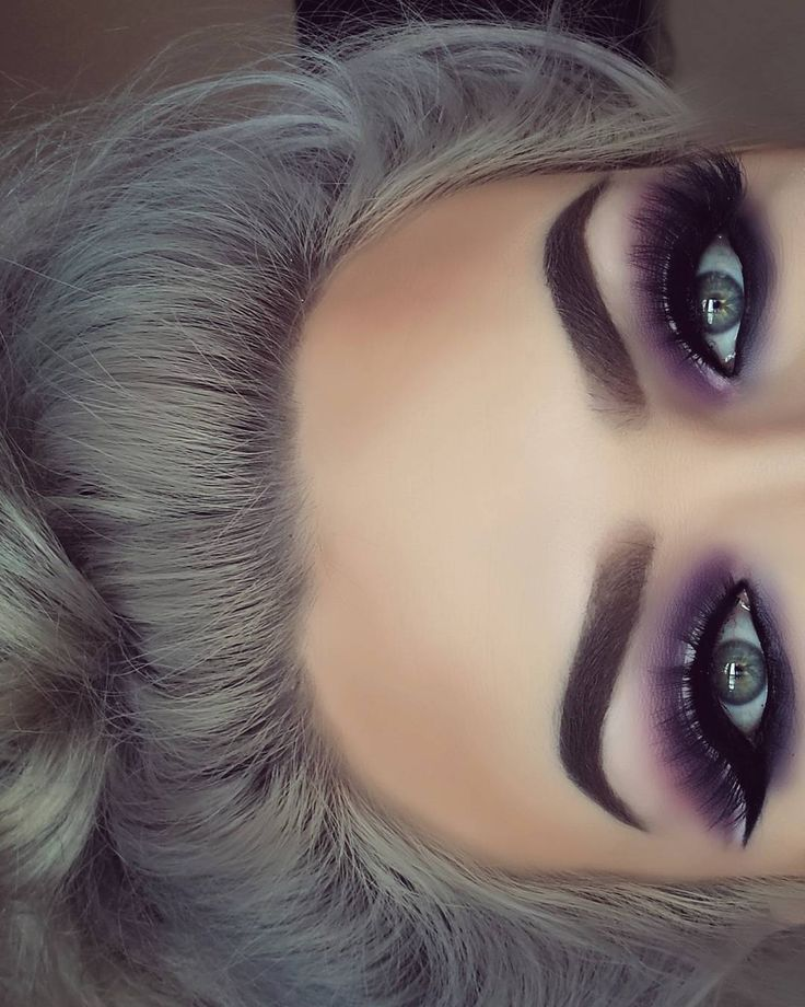purple and grey eyeshadow tutorial