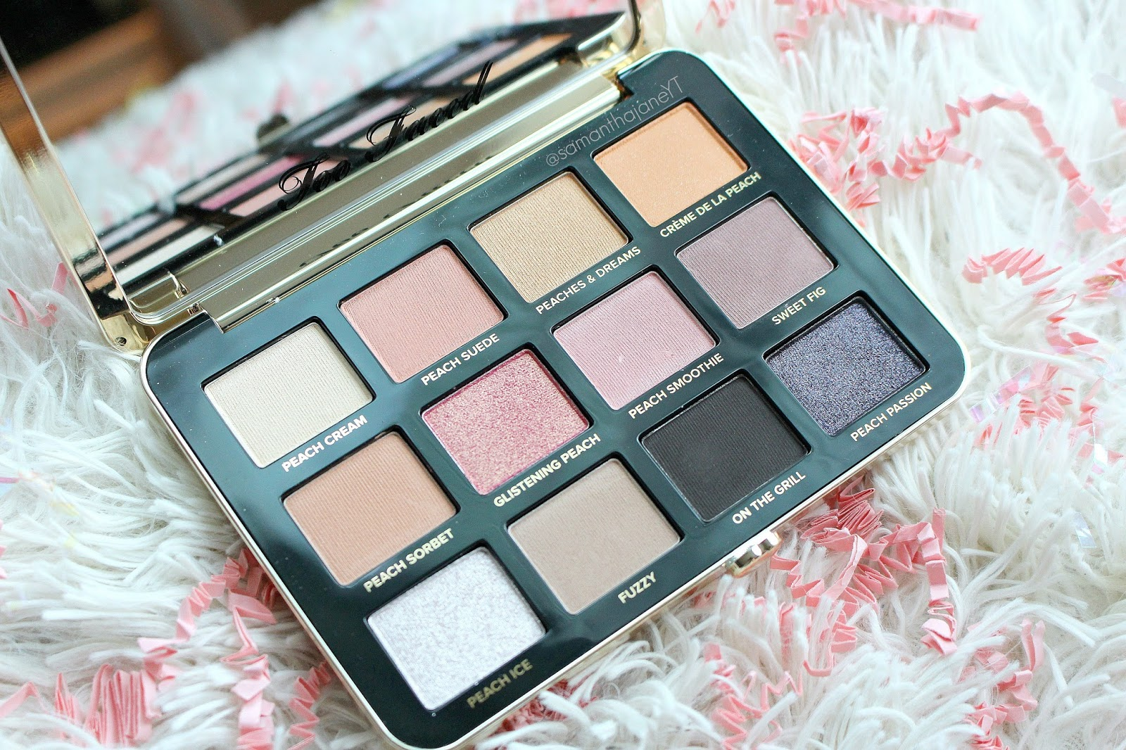 too faced palette tutorial
