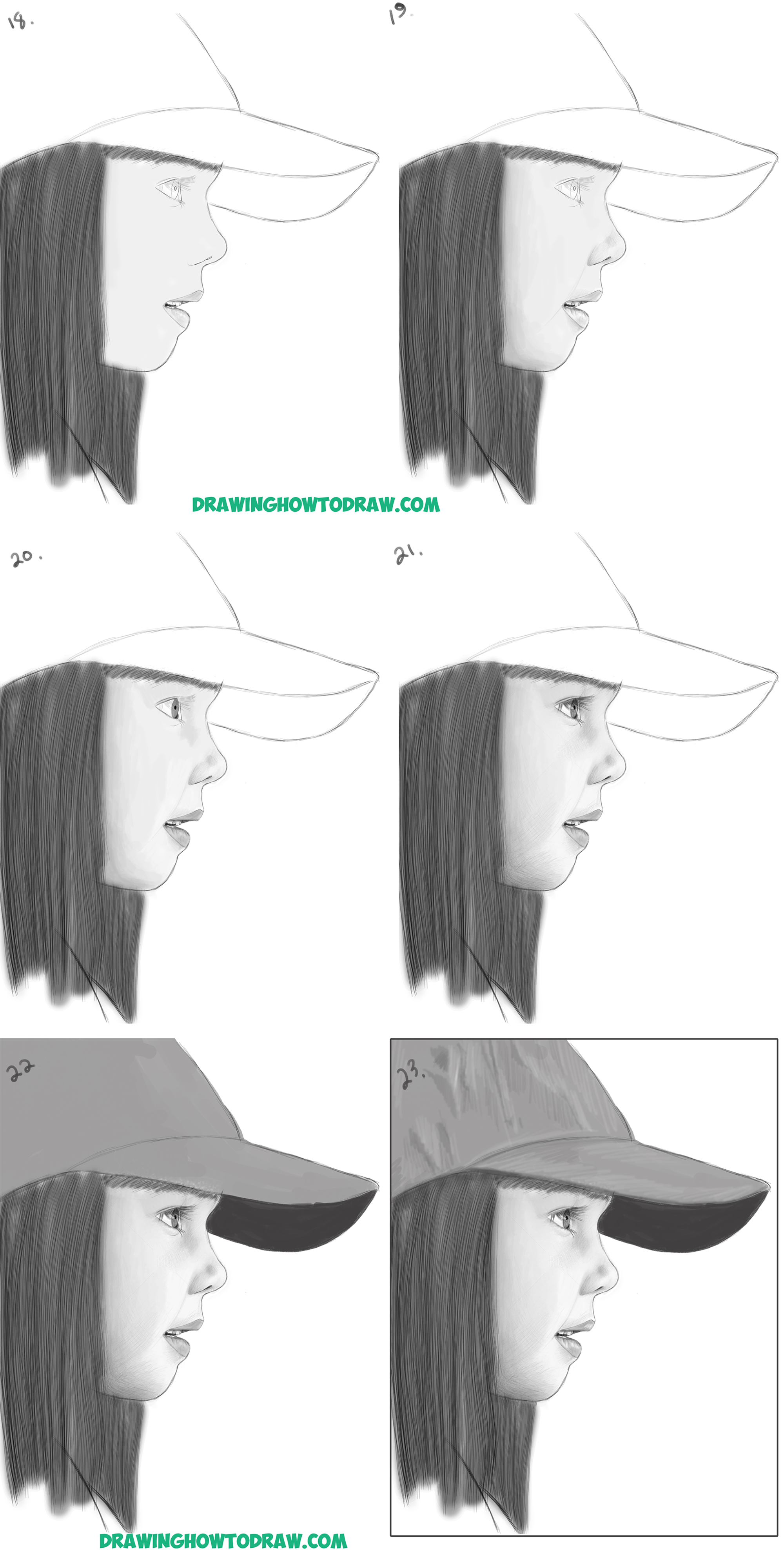 side face drawing tutorial
