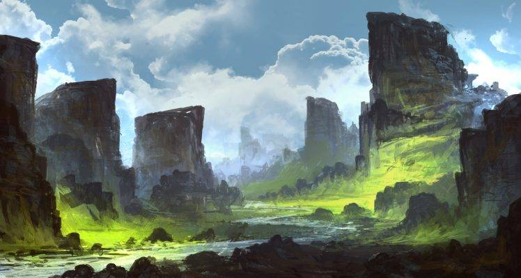 digital art landscape tutorial