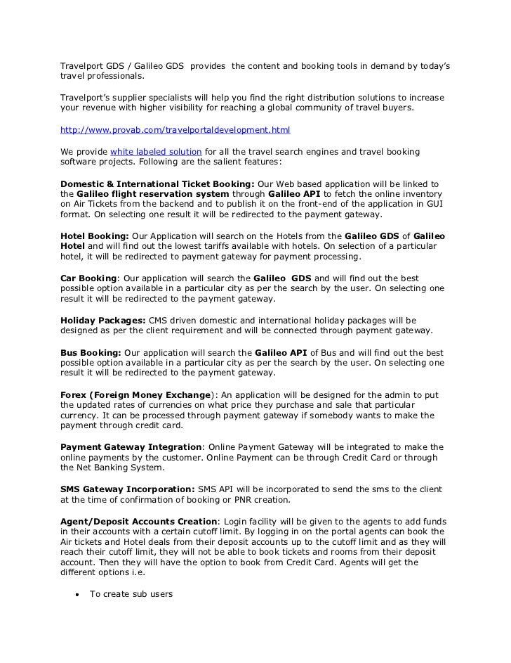 galileo reservation system tutorial