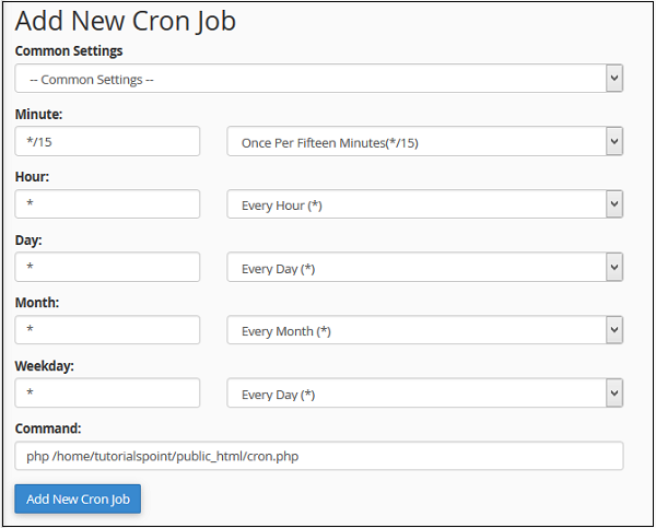 cpanel cron job tutorial