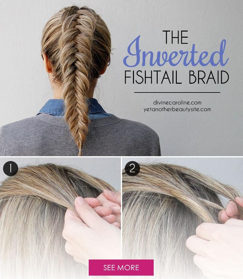 fishtail braid updo tutorial