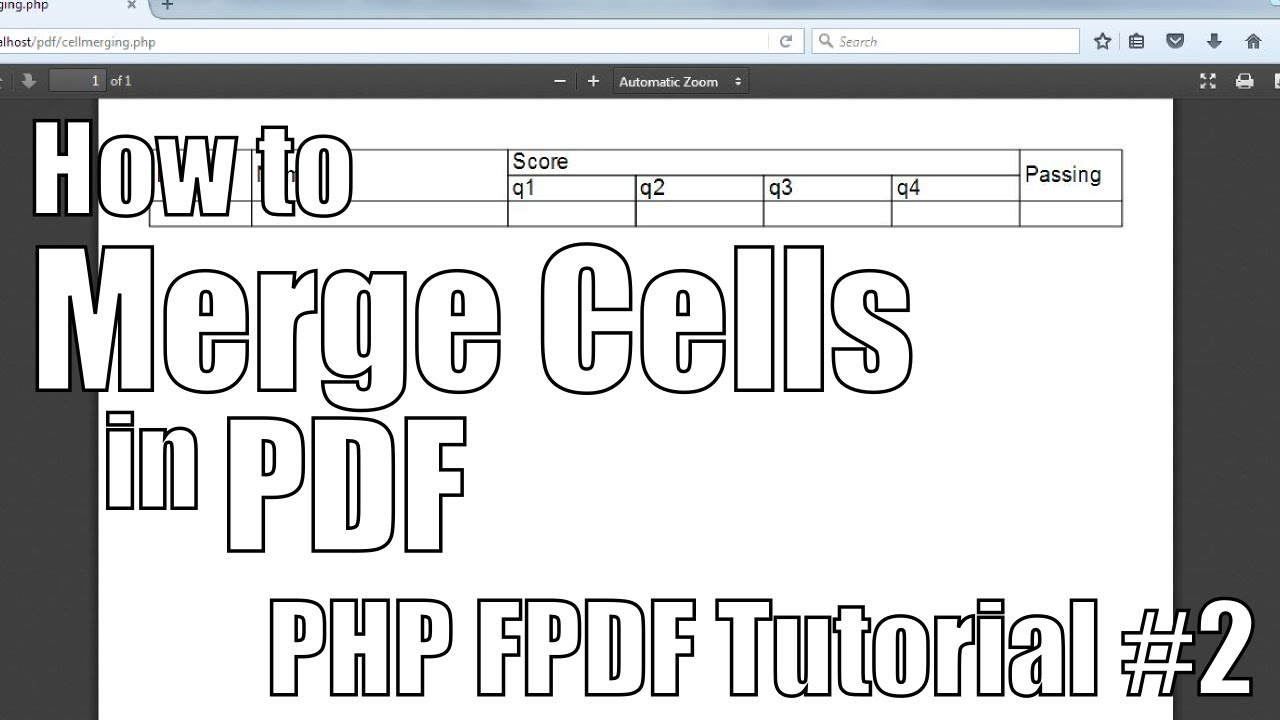 php to pdf tutorial