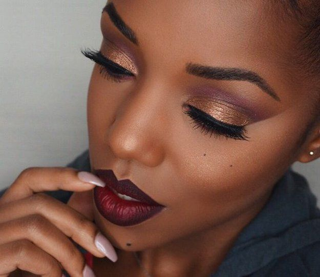 simple makeup tutorial for dark skin