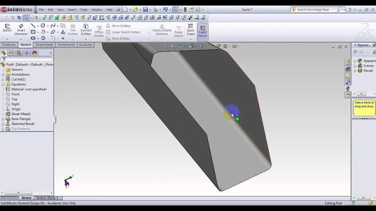 solidworks advanced sheet metal tutorial