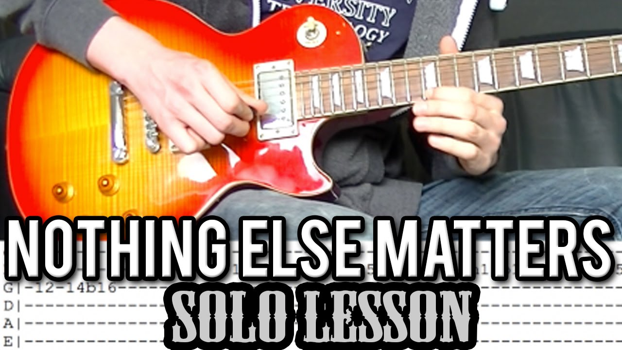 nothing on you guitar tutorial