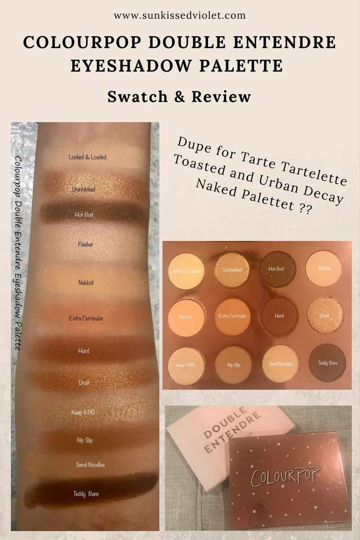 tarte eyeshadow palette tutorial