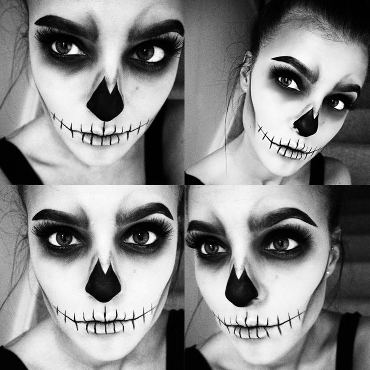 skull face makeup tutorial