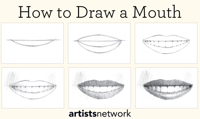 realistic mouth drawing tutorial