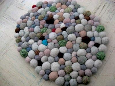 felt stone rug tutorial