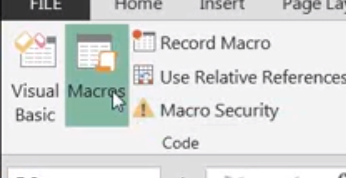 excel macro programming tutorial