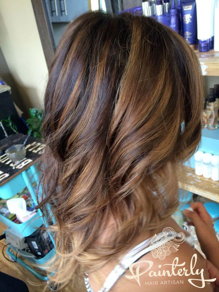 hair painting highlights tutorial