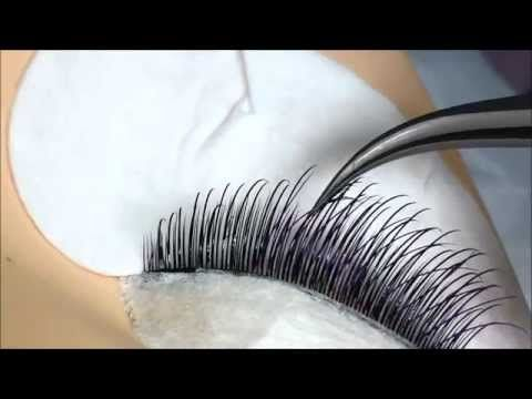 volume eyelash extensions tutorial