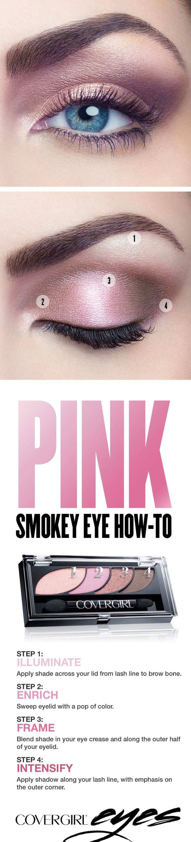 pink smokey eye makeup tutorial