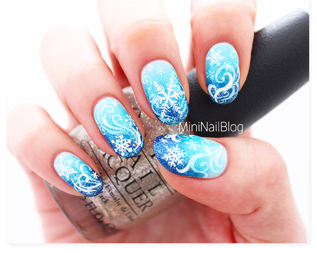 snowflake nail art tutorial