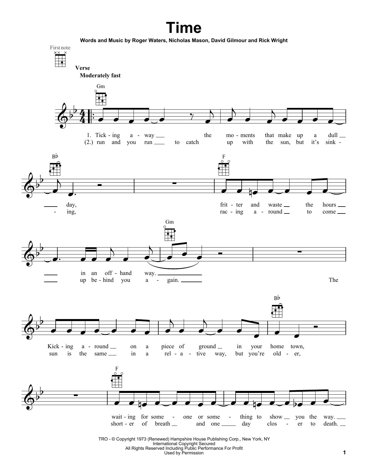 pink floyd ukulele tutorial