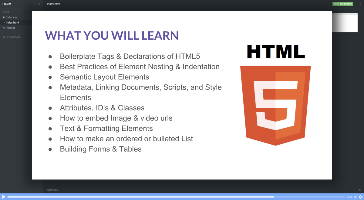 free online html course tutorial