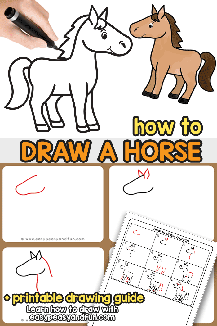 how to draw a horse tutorial