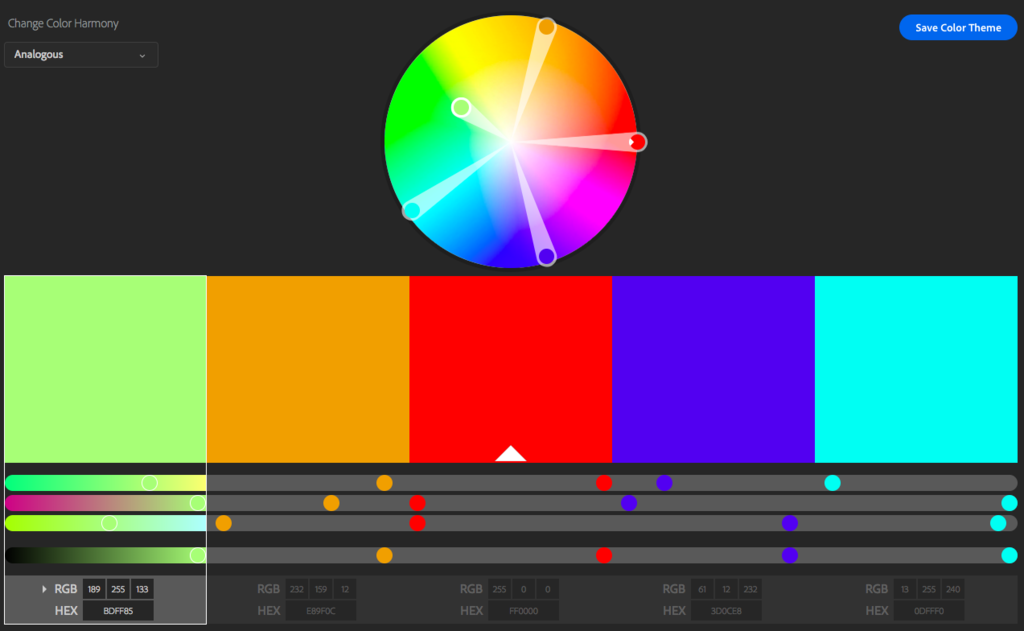 adobe color wheel tutorial