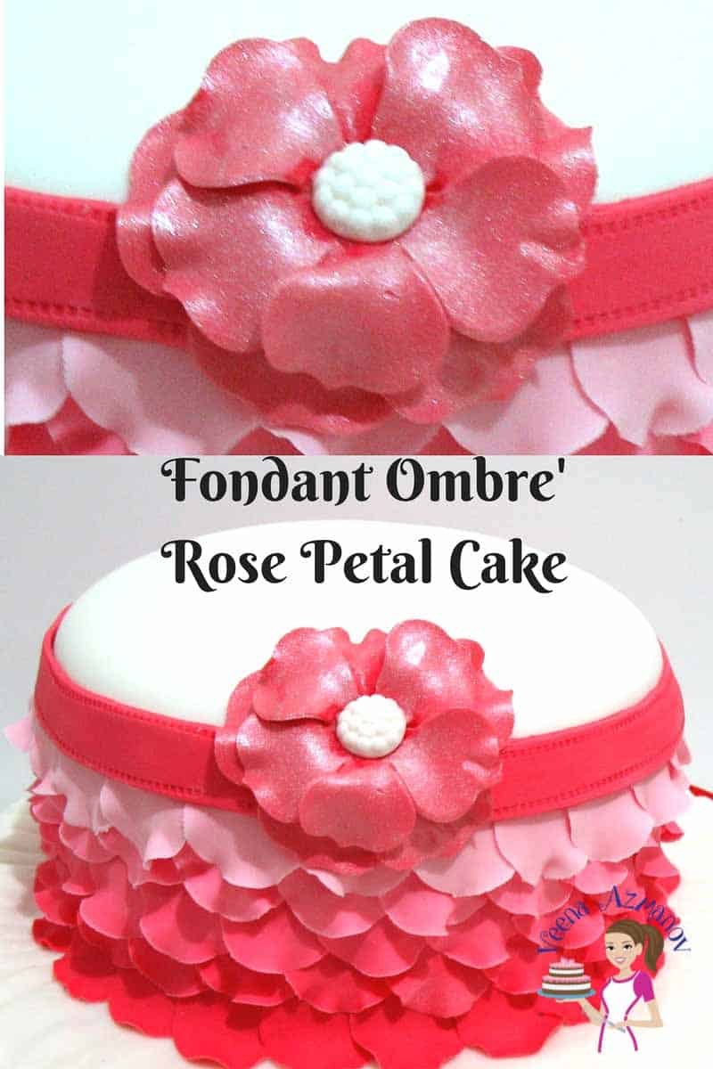 petal effect cake tutorial