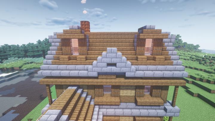 wooden minecraft house tutorial