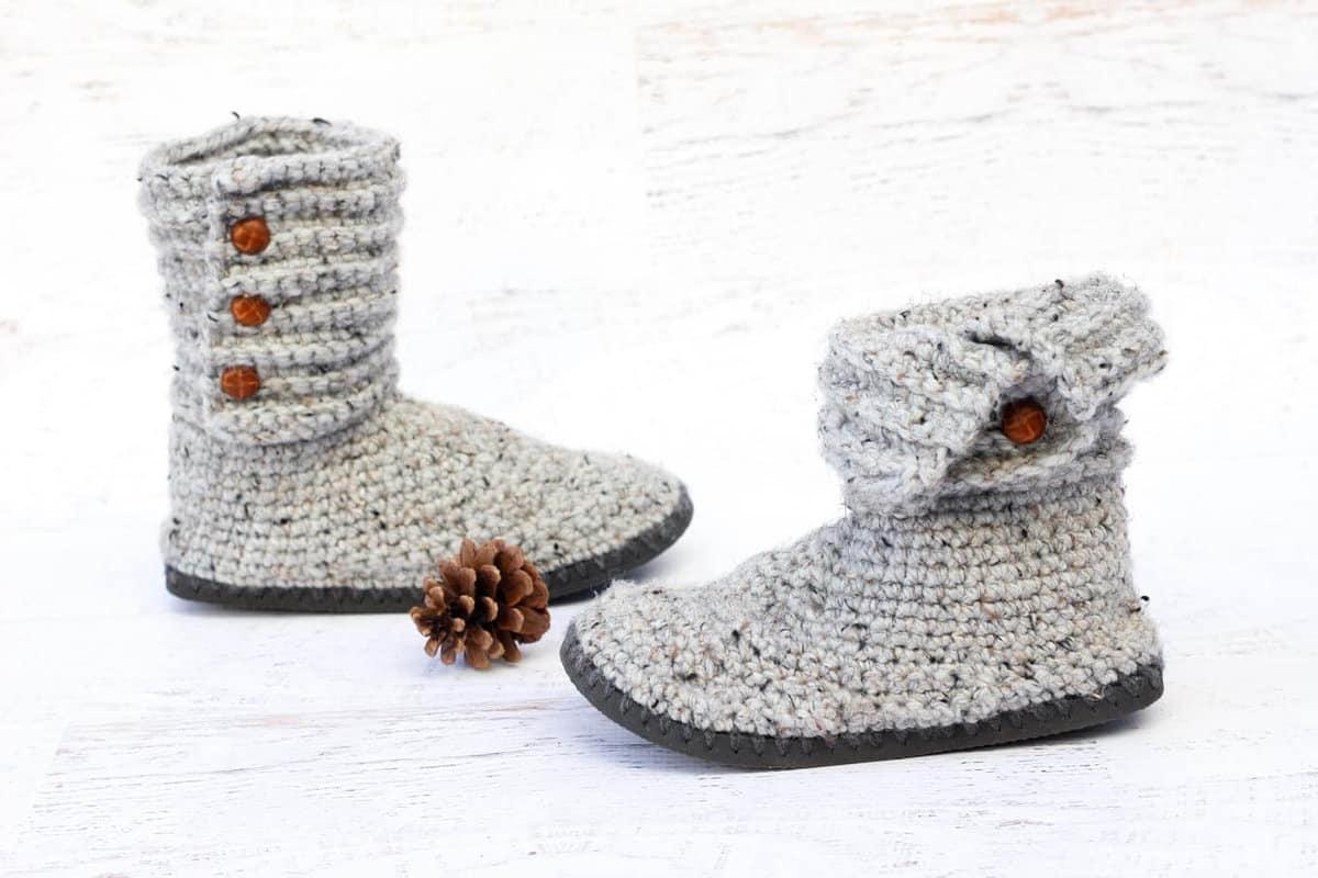 crochet slipper boots tutorial
