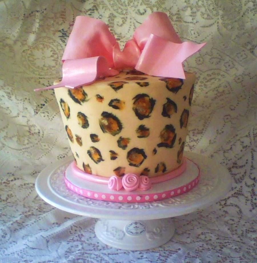 leopard print cake tutorial