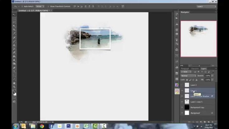 photoshop drop shadow tutorial
