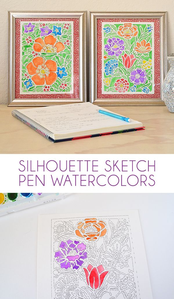 silhouette sketch pen tutorial