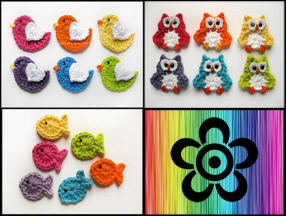 crochet owl applique tutorial