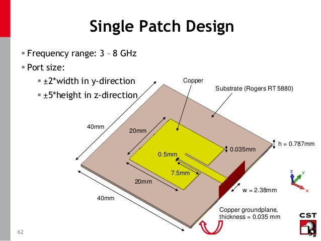 cst patch antenna tutorial pdf