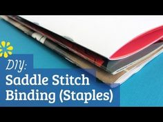 saddle stitch binding tutorial