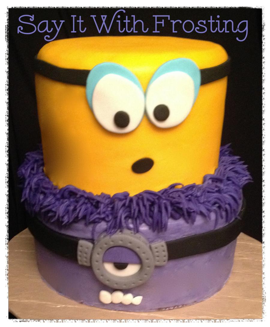 purple minion cake tutorial