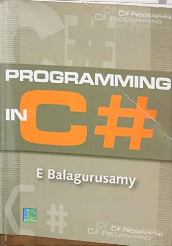 c# tutorial pdf by balaguruswamy