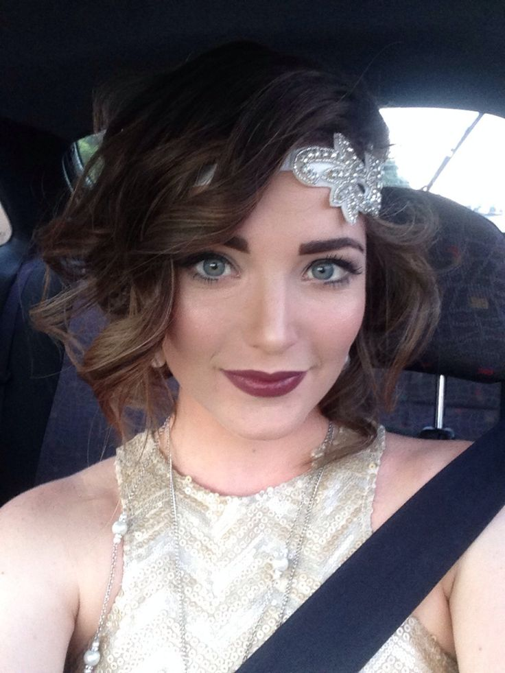 great gatsby short hair tutorial